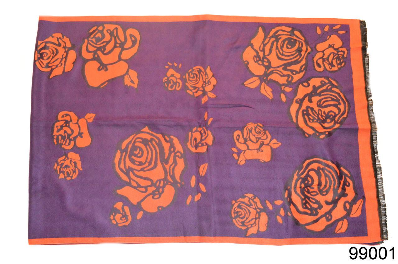 Кашемировый палантин Роза фиолетовый