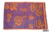 Купить кашемировый палантин Роза фиолетовый