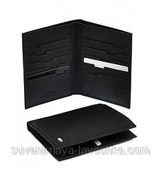 Мужской шелек Classik кожа dr.Bond MS-10 black, кошелек компактный, недорогой