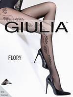 Классические женские черные колготы с узором Giulia FLORY 40 den, 70/57