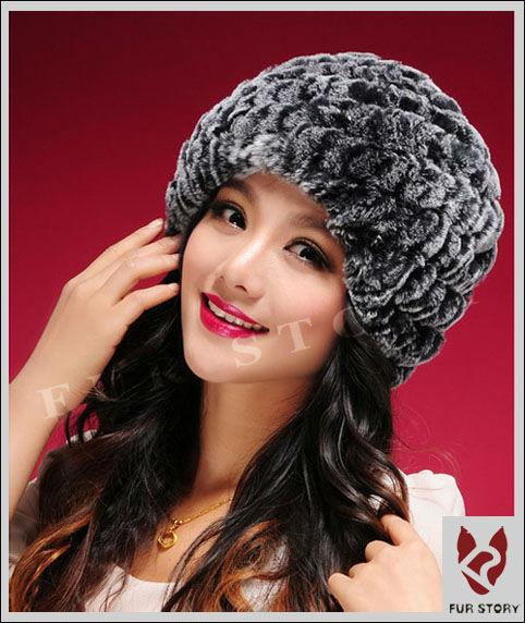 Женская меховая шапка. Стриженный кролик.