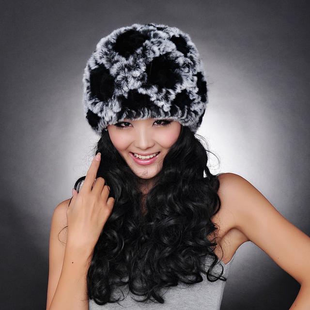 Меховая женская шапка. Стриженный кролик