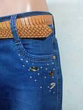 Женская джинсовая юбка до колена длинной, фото 2