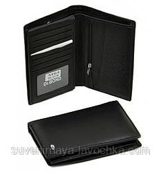 Кошелек мужской Classik кожа dr.Bond M64 black, портмоне качественный, с молнией