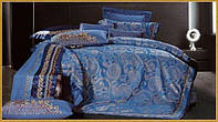 Комплект постельного белья жаккард евро Karven Jacquard Satin J-179 Eu
