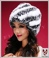 Женская меховая шапка. Натуральный мех, фото 3