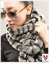 Женский меховой шарф. Натуральный мех. Модель 8.