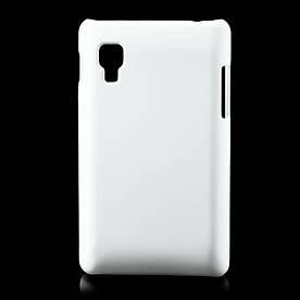Чехол пластиковый матовый на LG Optimus L4 II E440, белый