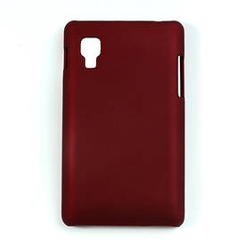 Чехол пластиковый матовый на LG Optimus L4 II E440, красный