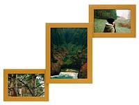 Фоторамка деревянная Руноко Лесенка-3 Золото