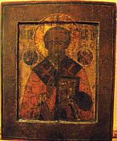Икона Николай Чудотворец 19 век ковчег