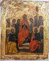 Икона Сошествие святого духа на апостолов 19 век