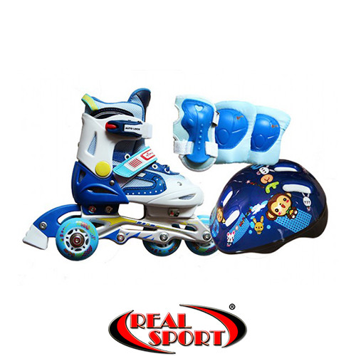 Роликовые коньки для детей Eco Set Amigo Sport (р-р 28-31, синие)
