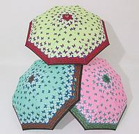 Женский зонт полуавтомат в бабочку