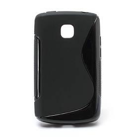 Чехол TPU S формы на LG Optimus L1 II E410, черный