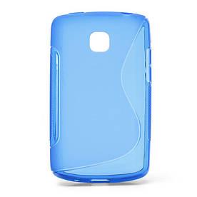 Чехол TPU S формы на LG Optimus L1 II E410, синий