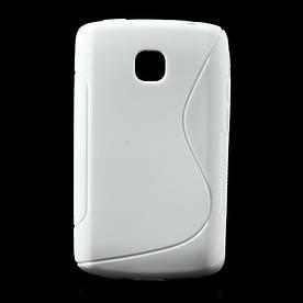 Чехол TPU S формы на LG Optimus L1 II E410, белый