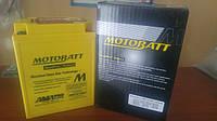 Аккумулятор для мотоцикла гелевый MOTOBATT  AGM 16Ah  210A  размер 135 x 90 x 176  мм с проставкой  MBTX14AU