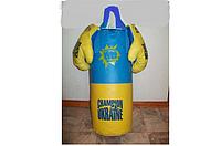 Боксерская груша с перчатками  d12x43 см
