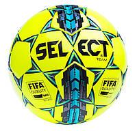Мяч футбольный SELECT Team FIFA  жёлтый