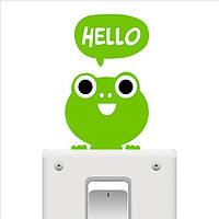 Наклейка на выключатель Лягушонок HELLO