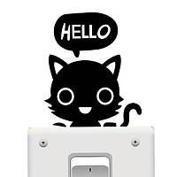 Наклейка на выключатель Котенок HELLO