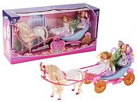 Игровой набор ― карета, лошадь, куклы 28922 RI