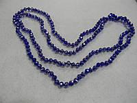 Хрусталь стекло 6 мм. синий перломутр