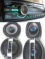 Набор авто-звука от Sony Магнитола 1085B + овалы 6926+ круглые 16 см NEW!