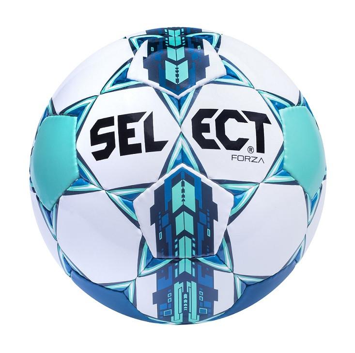 Мяч футбольный Select Forza, бело-бирюзовый, р 4, 5, ламинированный