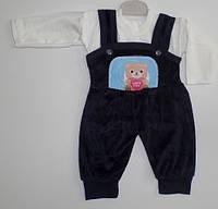 Детская одежда оптом (Турция). комбинезон вилюр+кофта 6 мес