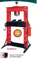 Пресс гидравлический напольный ТL0500-6 50т c 2-х скоростным насосом и манометром для контроля давления