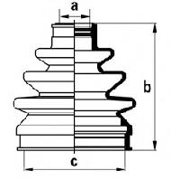AF D8199 = MB837332 Пыльник ШРУСа