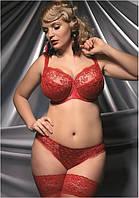 Бюстгальтер с мягкой чашкой Kris Line Valentina (женское нижнее белье больших размеров, красное)