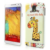 "Чехол накладка пластиковый на на Samsung Galaxy Note 3 N9000, ""Маленький жираф"""