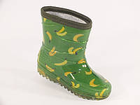 """Резиновые сапоги детские Verona кант """"Бананы на зеленом"""""""