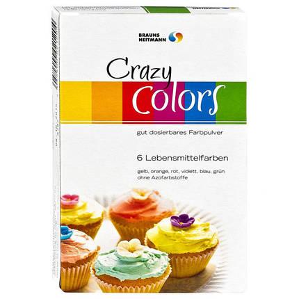 Красители пищевые порошковые Crazy Colors 6шт x  4г, фото 2