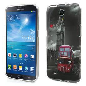 """Чехол накладка на на Samsung Galaxy Mega 6.3 I9200, """"I Love London"""""""