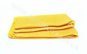Полотенце вафельное синтетическое желтое, фото 3