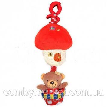 Плюшева іграшка Baby Mix P/1116-2981 Ведмедик на повітряній кулі червоний