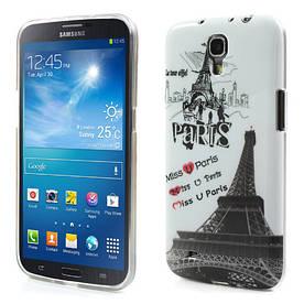 "Чехол накладка на на Samsung Galaxy Mega 6.3 I9200, ""Miss you Paris"""