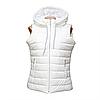 Женская жилетка белая новые модели D123