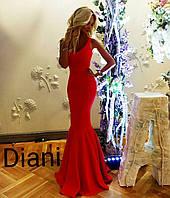 Женское красное платье длинное
