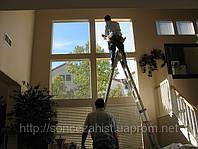 Монтаж поклейка солнцезащитной пленки, на окна