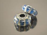 Бусина Соты для браслета Пандора, синий джинс, фото 1