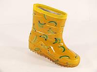 """Резиновые сапоги детские Verona кант """"Бананы на желтом"""""""