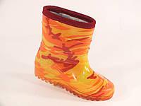 """Резиновые сапоги детские Verona кант """"Оранжевый камуфляж"""", фото 1"""