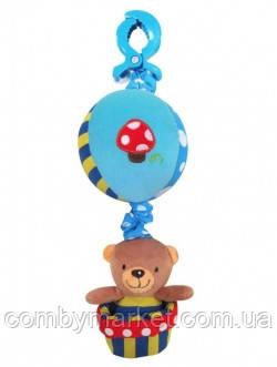 Плюшева іграшка Baby Mix P/1116-3181 Ведмедик на повітряній кулі синій