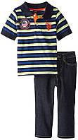 """Комплект для мальчика U.S. Polo Assn. из 2х ед. (поло и джинсы) """"Супер модник"""" р.5, фото 1"""