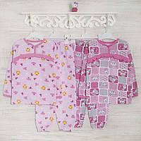 Пижамы детские для девочек 1-3-5лет, 2208фуп начес-хлопок, в наличии 92,104,116  Рост